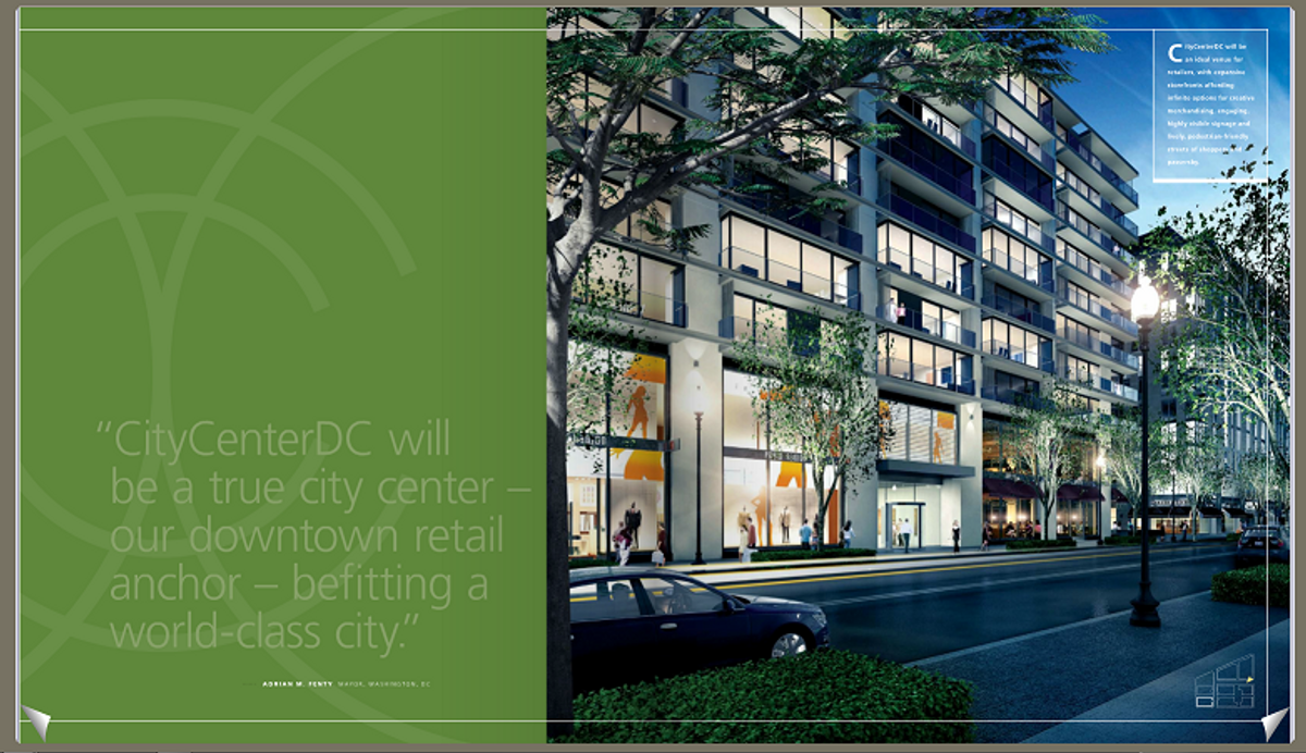Do I spot crescents in this CityCenterDC promotional brochure?