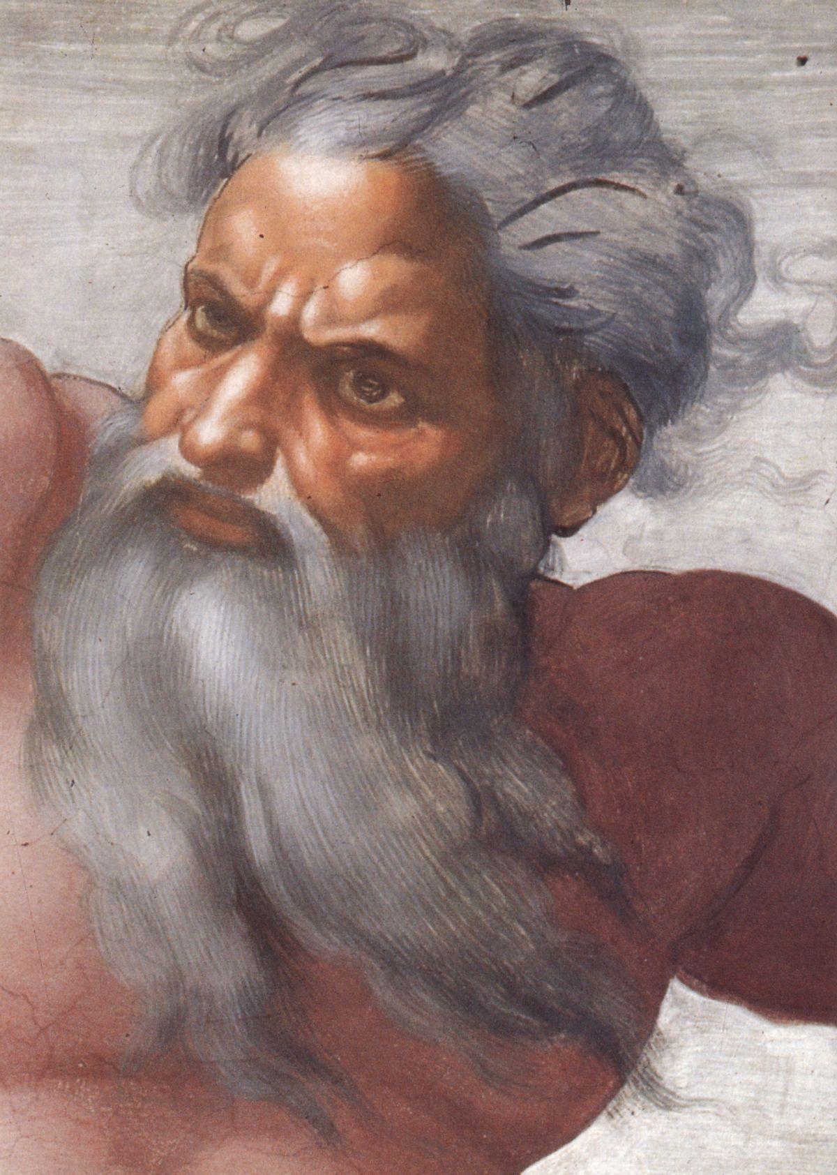 God according to Michelangelo