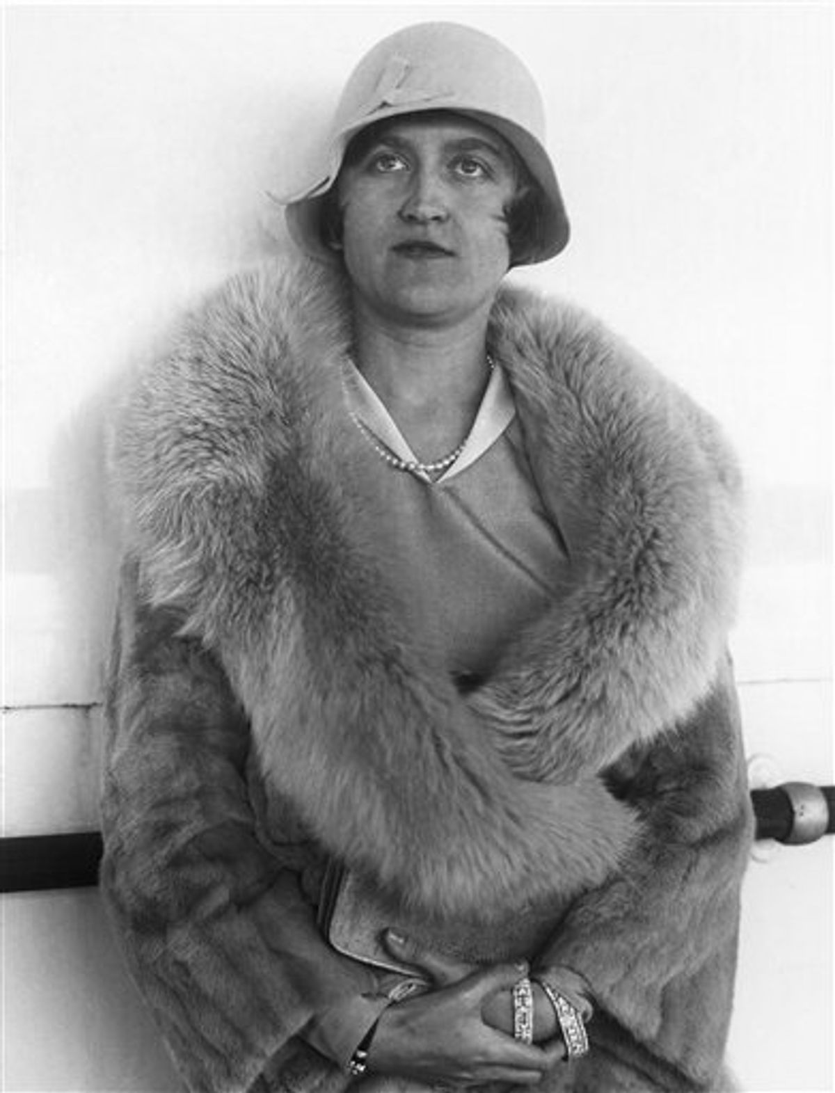 FILE - This Aug. 11, 1930 file photo shows Mrs. Huguette Clark Gower, daughter of the late Sen. William A. Clark of Montana, a copper magnate, in Reno, Nev. Clark, the 104-year-old heiress to a Montana copper fortune who once lived in the largest apartment on Fifth Avenue, died Tuesday, May 24, 2011, at a Manhattan hospital even as an investigation continues into how her millions were handled. (AP Photo, File) (AP)