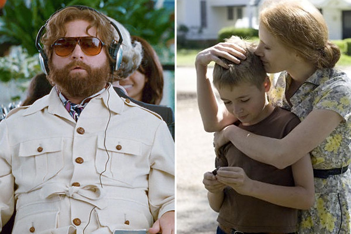 """Stills from """"Hangover II"""" and """"The Tree of Life"""""""