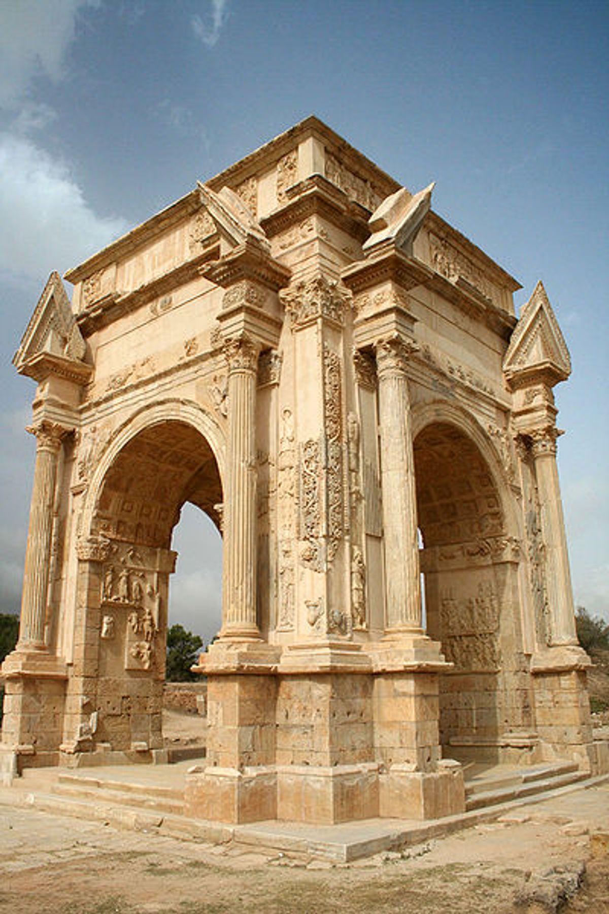 The Arch of Septimius Severus at Leptis Magna