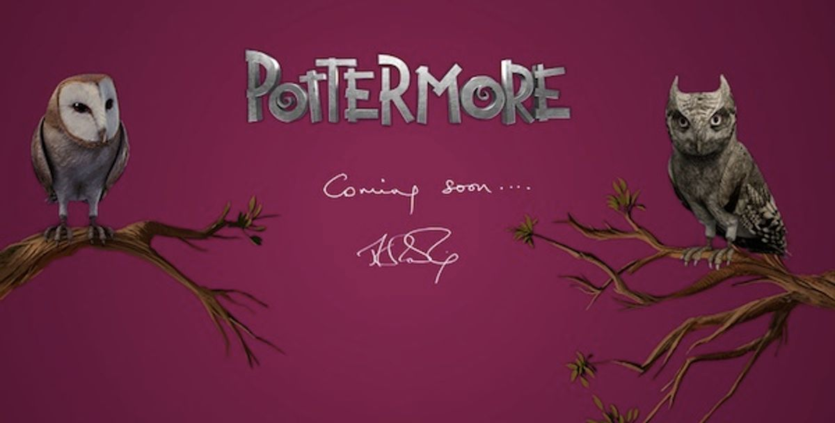 J.K. Rowling's new site.
