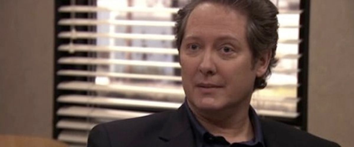 """James Spader is intense on """"The Office."""""""
