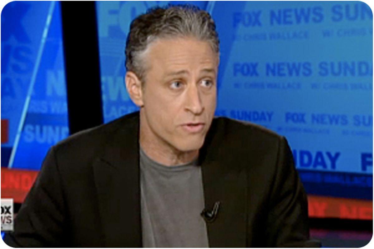 "Jon Stewart on Wednesday night's ""Daily Show."""
