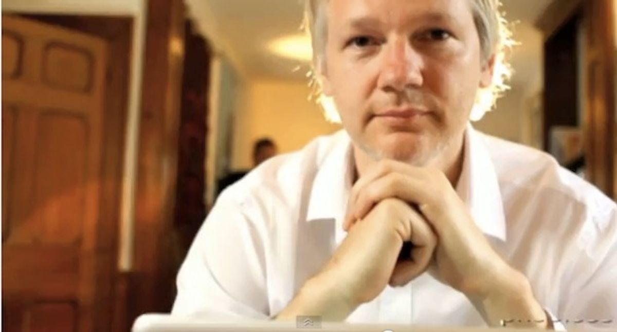 Julian Assange's MasterCard parody