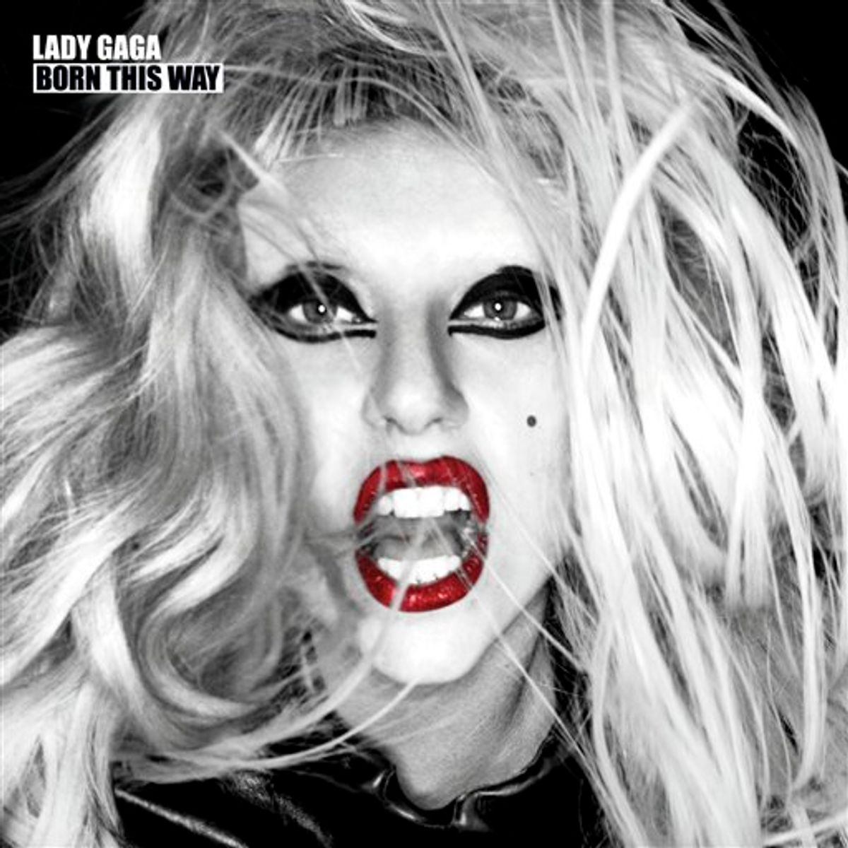 """FILE - In this file CD cover image released by Interscope Records, the latest release by Lady Gaga, """"Born This Way"""", is shown. Amazon experienced a high volume of traffic that caused delays for those downloading the album — echoing a posting on the album's product page on Amazon.com. (AP Photo/Interscope Records, File) (AP)"""