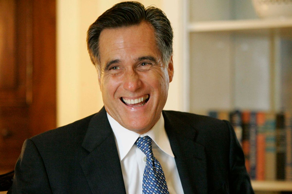 FILE - Republican Presidential hopeful, former Massachusetts Gov. Mitt Romney smiles during an interview with The Associated Press, in this, Aug. 30, 2007 file photo taken  in Columbia,S.C. The former Massachusetts governor is taking a different approach to the first-in-the-South primary state in his second presidential run. His team says he'll focus heavily on the economy this time. (AP Photo/Mary Ann Chastain, File) (Mary Ann Chastain)
