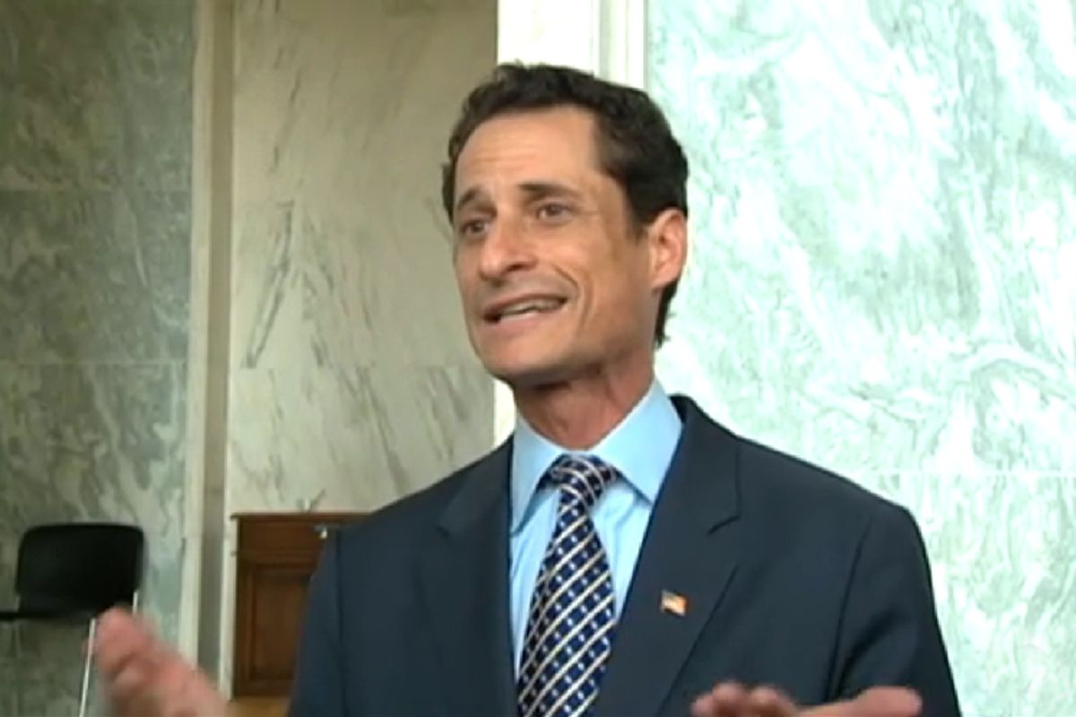 Anthony Weiner at a press conference on Tuesday.