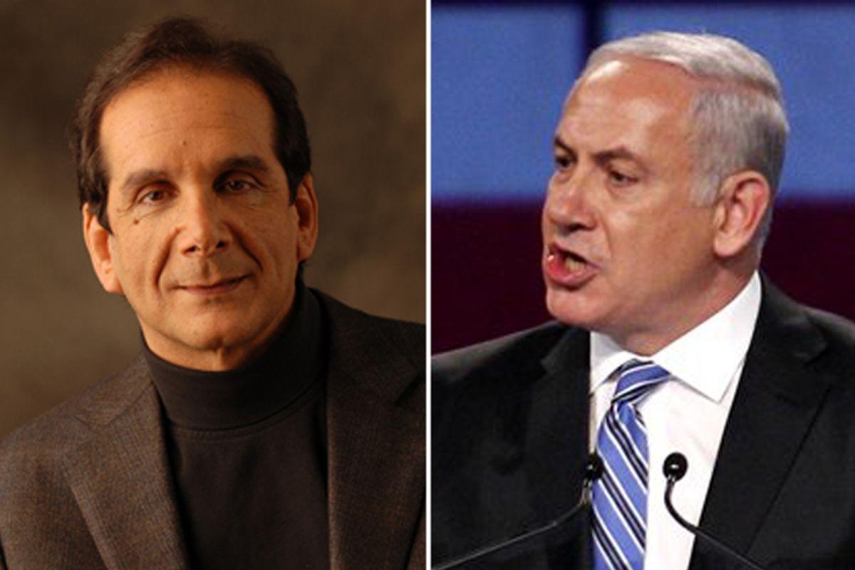 Charles Krauthammer and Benjamin Netanyahu