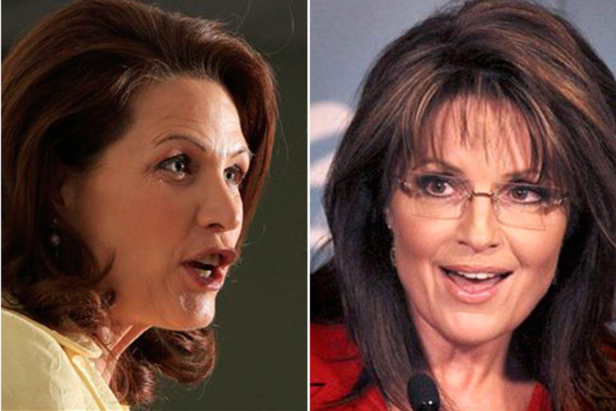 Michele Bachmann and Sarah Palin