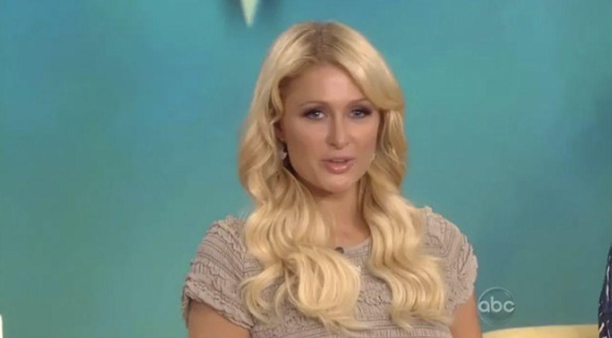 "Paris Hilton catching flack on ""The View."""
