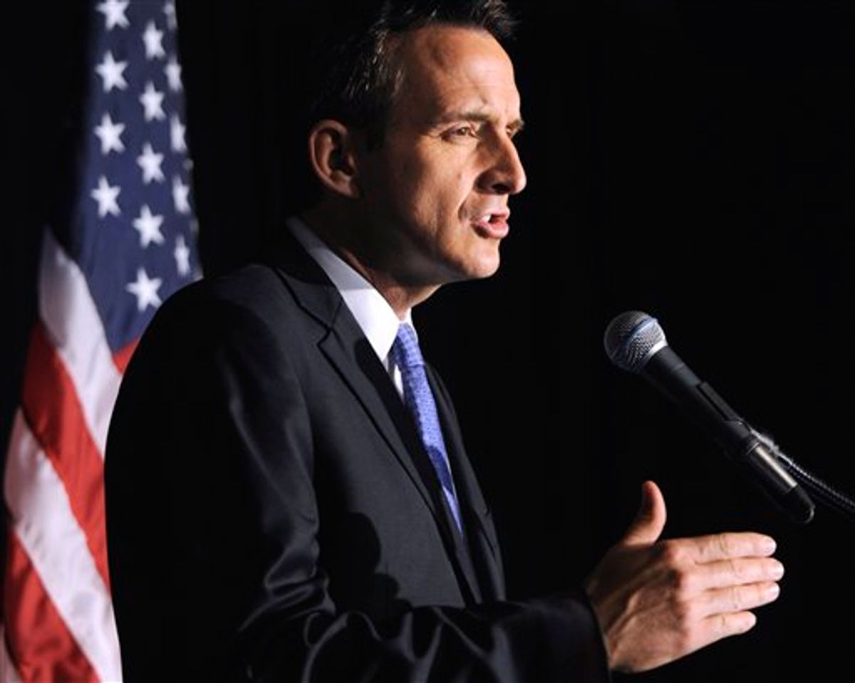 CAPTION CORRECTION, CORRECTS DATE TO JUNE 7, 2011, NOT JUNE 6, 2011 - Republican presidential hopeful, former Minnesota Gov. Tim Pawlenty delivers a policy address at the University of Chicago Harris School of Public Policy in Chicago, Tuesday, June 7, 2011. (AP Photo/Paul Beaty) (AP)