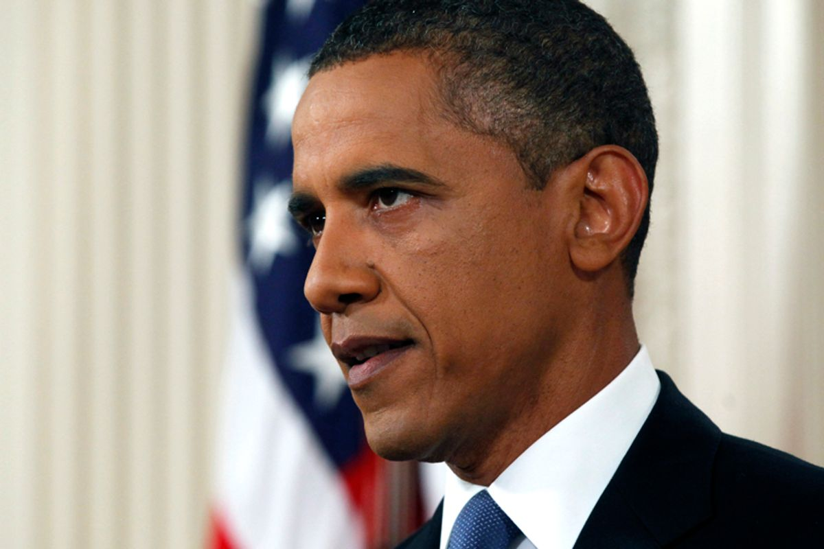 President Barack Obama delivers a televised address from the East Room of the White House in Washington, Wednesday, June 22, 2011 on his plan to drawdown U.S. troops in Afghanistan. (AP Photo/Pablo Martinez Monsivais, Pool) (Pablo Martinez Monsivais)