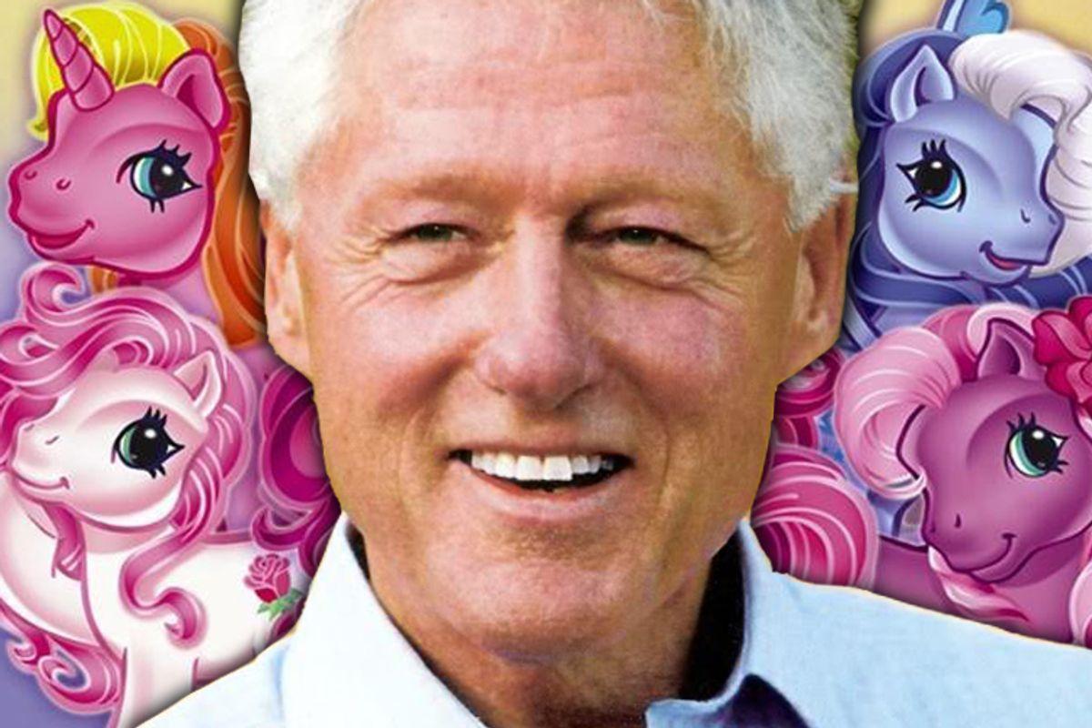 President Clinton takes a diplomatic trip to Ponyland.