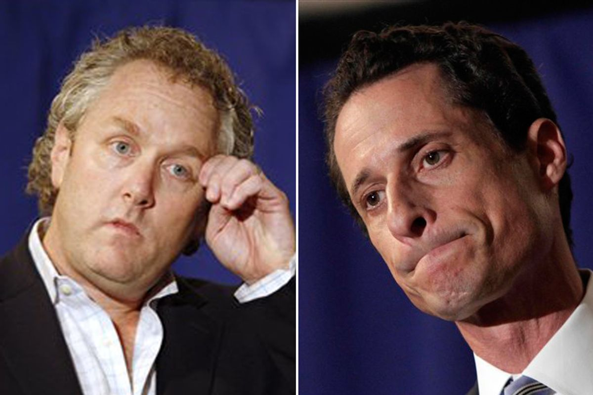 Andrew Breitbart and Anthony Weiner