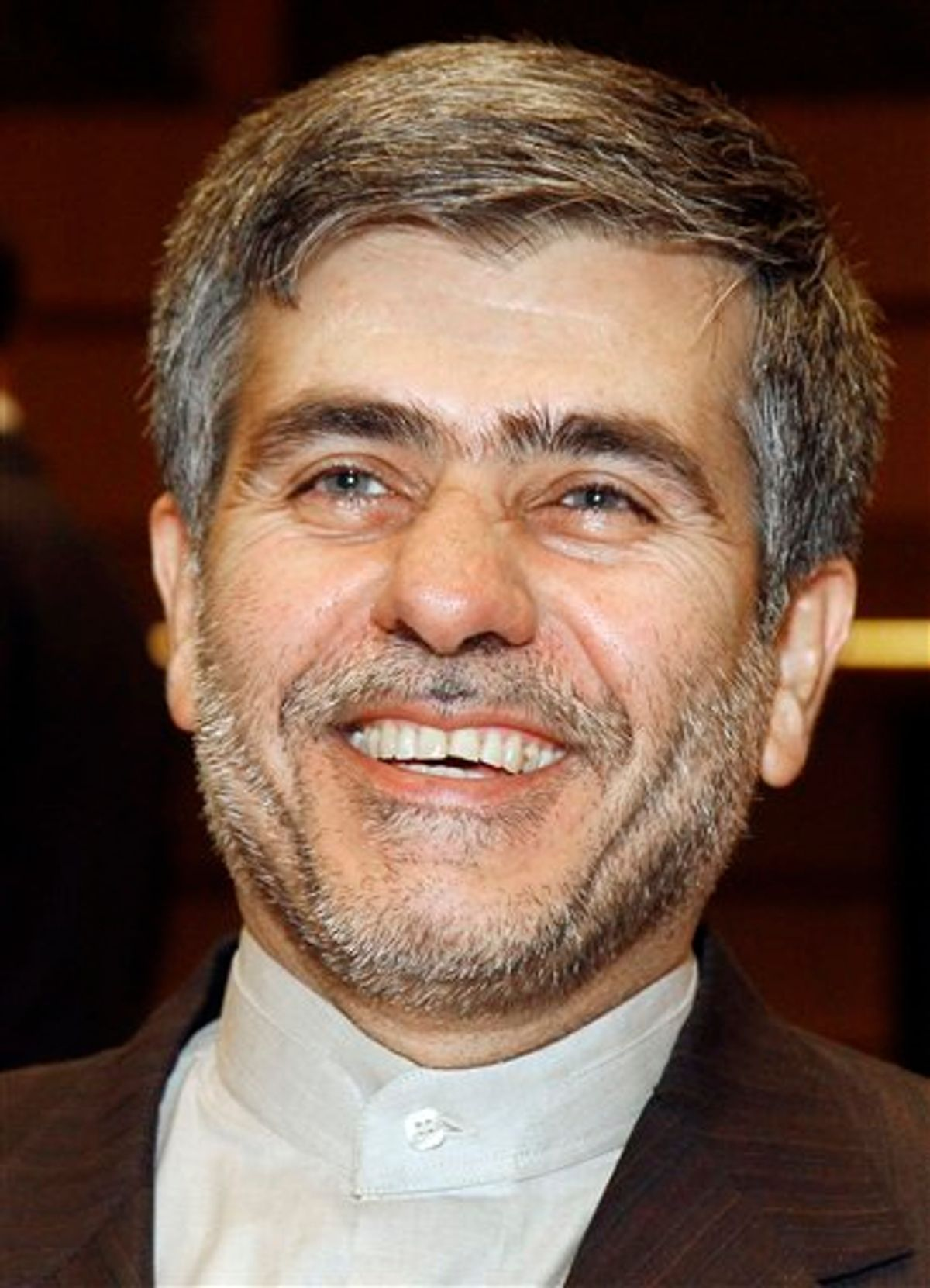 Fereidoun Abbasi Davani, Iran's Vice President and Head of Atomic Energy Organization, smiles during at the Ministerial Conference on Nuclear Safety at the International Atomic Energy Agency, IAEA, in Vienna, Austria, on Monday, June 20, 2011. (AP Photo/Ronald Zak)  (AP)