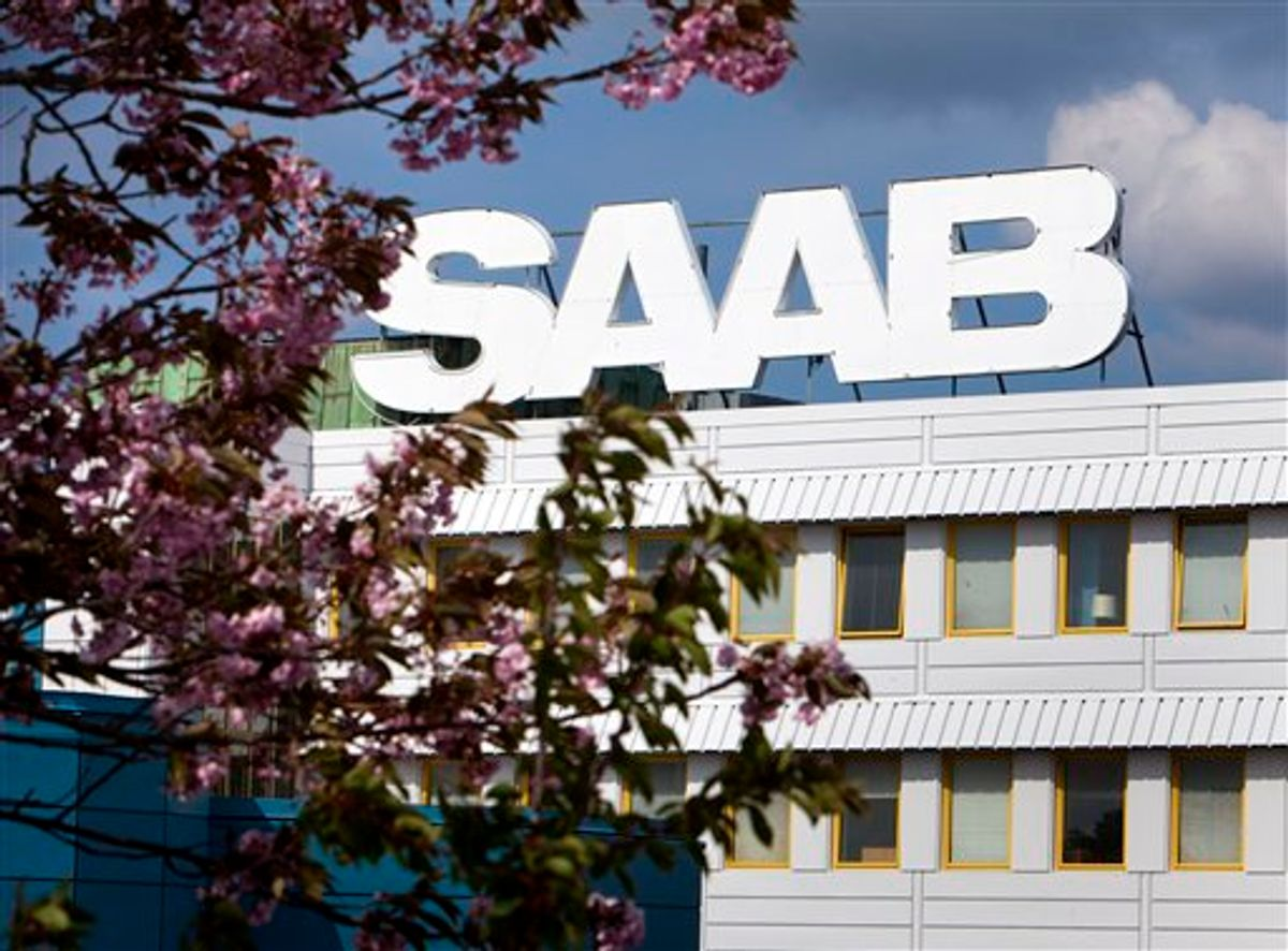 Saab Automobile's production plant in Trollhattan, south west Sweden Thursday May 12, 2011. Struggling car maker Saab Automobile faced renewed uncertainty Thursday as the financing deal with China's Hawtai Motor Group fell apart, raising fresh concerns about the company's future. (AP Photo/Thomas Johansson)   SWEDEN OUT     (AP)