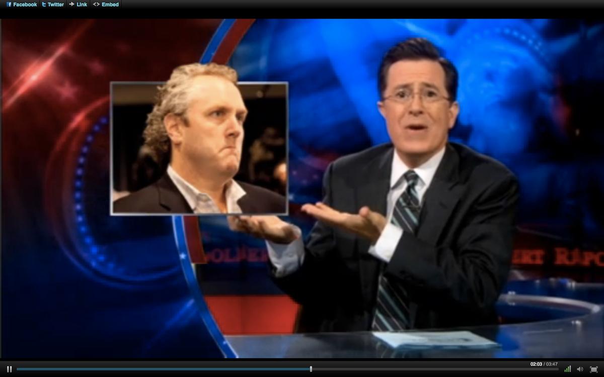 """Stephen Colbert on Thursday night's """"Colbert Report."""""""