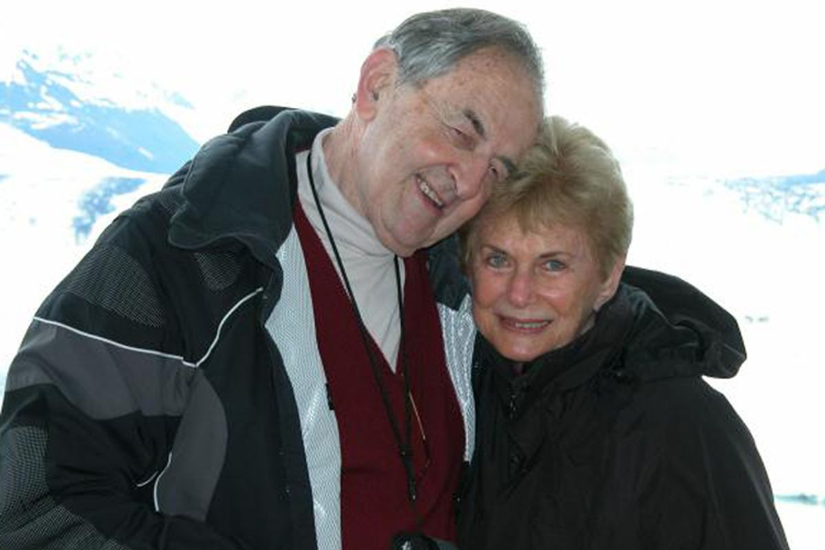 The author and her late husband.