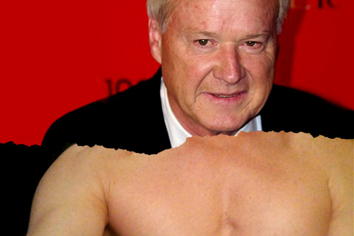Chris Matthews and the chest of Rep. Anthony Weiner
