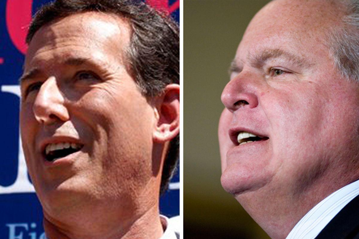 Rick Santorum and Rush Limbaugh
