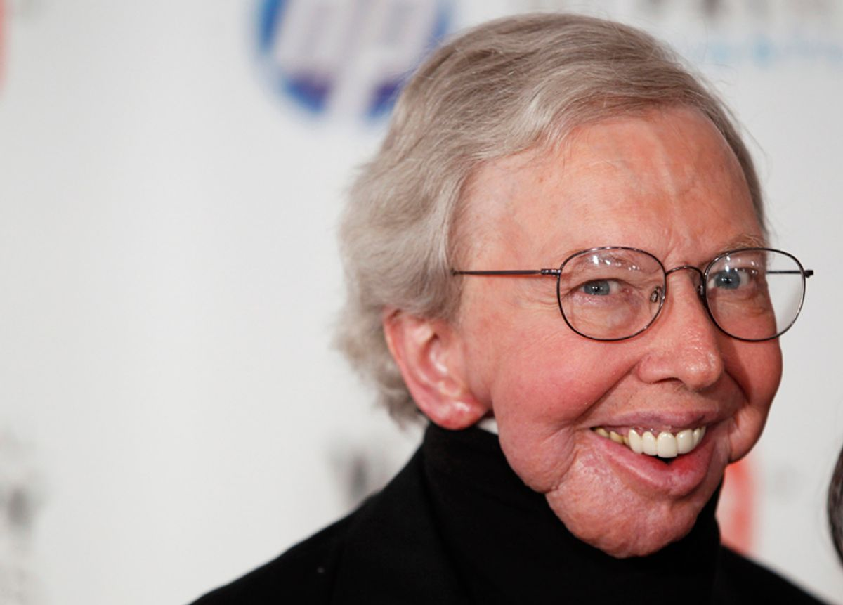 Film critic Roger Ebert arrives to attend the Webby Awards in New York June 14, 2010. REUTERS/Lucas Jackson (UNITED STATES - Tags: ENTERTAINMENT)    (© Lucas Jackson / Reuters)