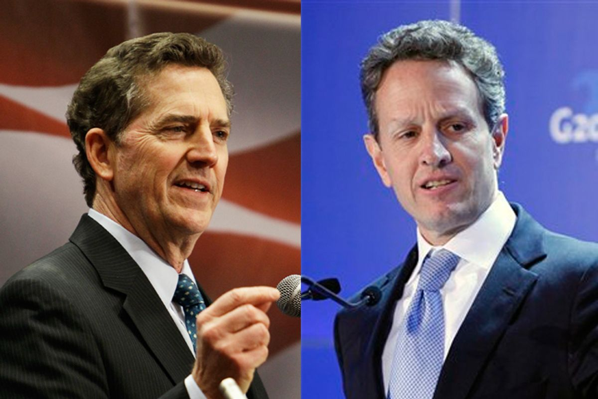 Jim DeMint and Tim Geithner