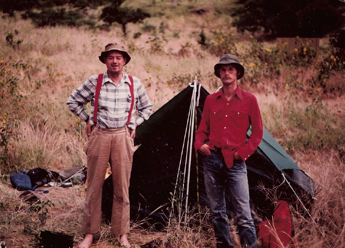 The author and his father on the Snake River in 1980