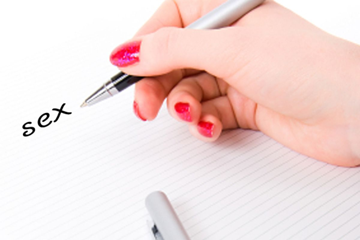 Woman hand with pen and paper. (Stas)