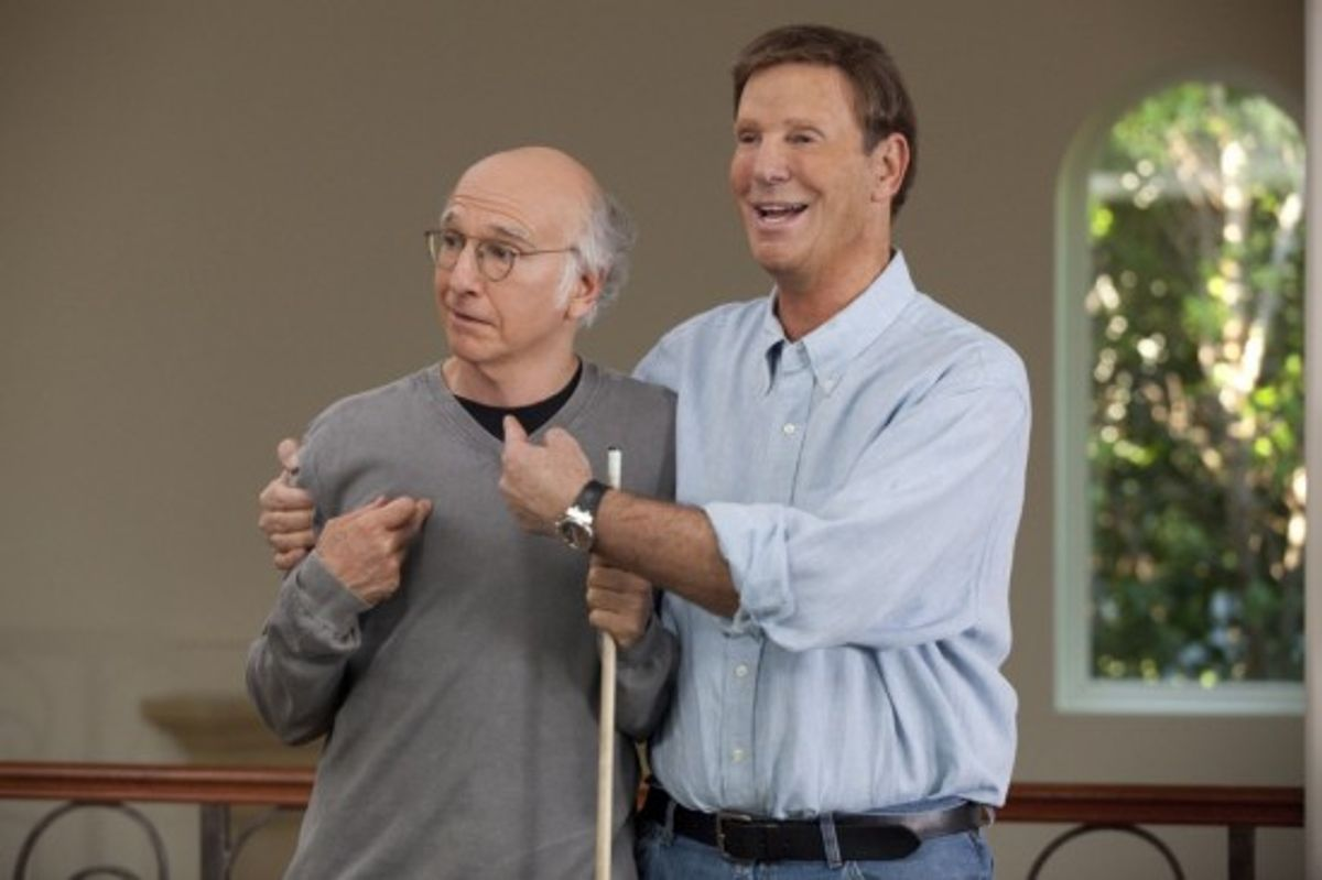 """Who, me, make a bad episode? Well yeah, Larry, almost. (Left to right: """"Curb Your Enthusiasm"""" creator-star Larry David and costar Bob Einstein.)"""