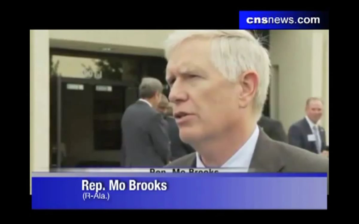 """Alabama Republican Rep. Mo Brooks tells a local news station that he would do """"anything short of shooting"""" undocumented immmigrants"""