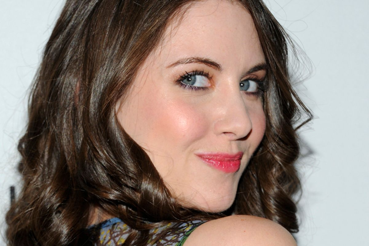 """Actress Alison Brie attends a special screening of """"The Decision"""", a short film promoting the John Frieda Precision Foam Colour hair product at LAVO on Tuesday, March 22, 2011 in New York. (AP Photo/Evan Agostini) (Evan Agostini)"""