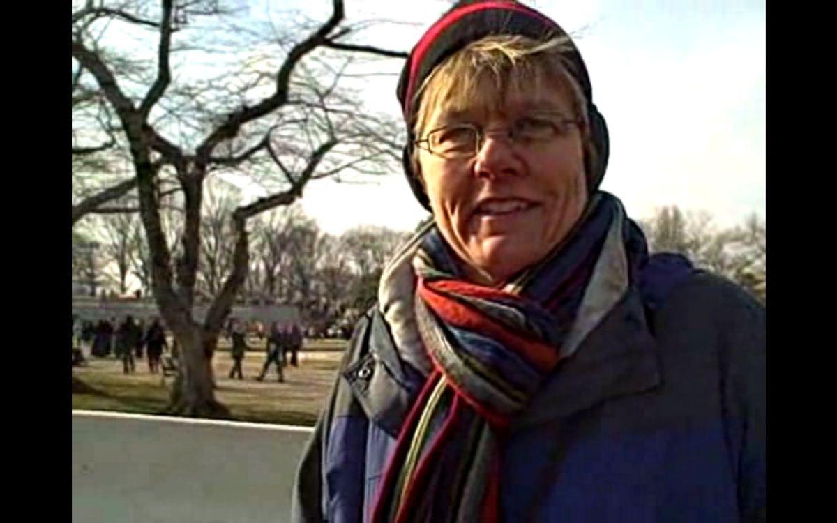 Michele Bachmann's stepsister, Helen LaFave, celebrates Obama's inauguration