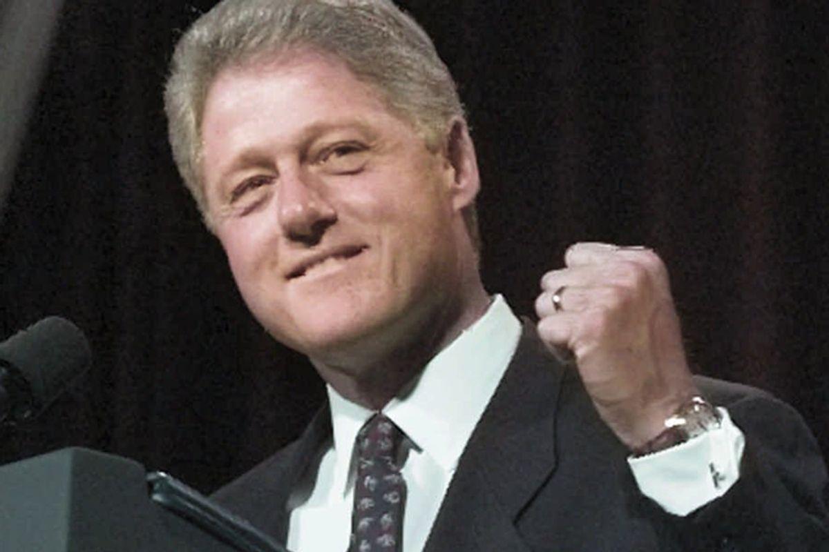 Former president Bill Clinton on Nov. 6, 1996.