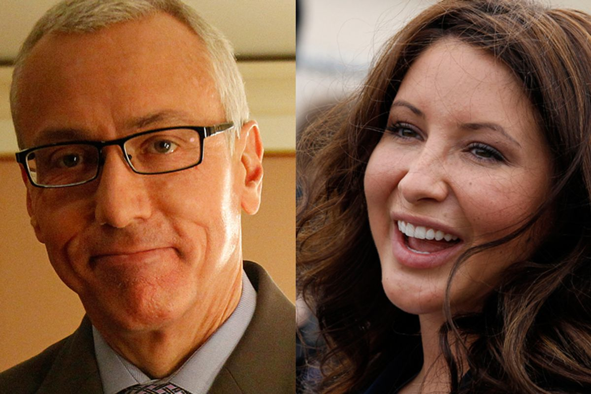"""Drew Pinsky, host of the show """"Dr. Drew"""" and Bristol Palin."""
