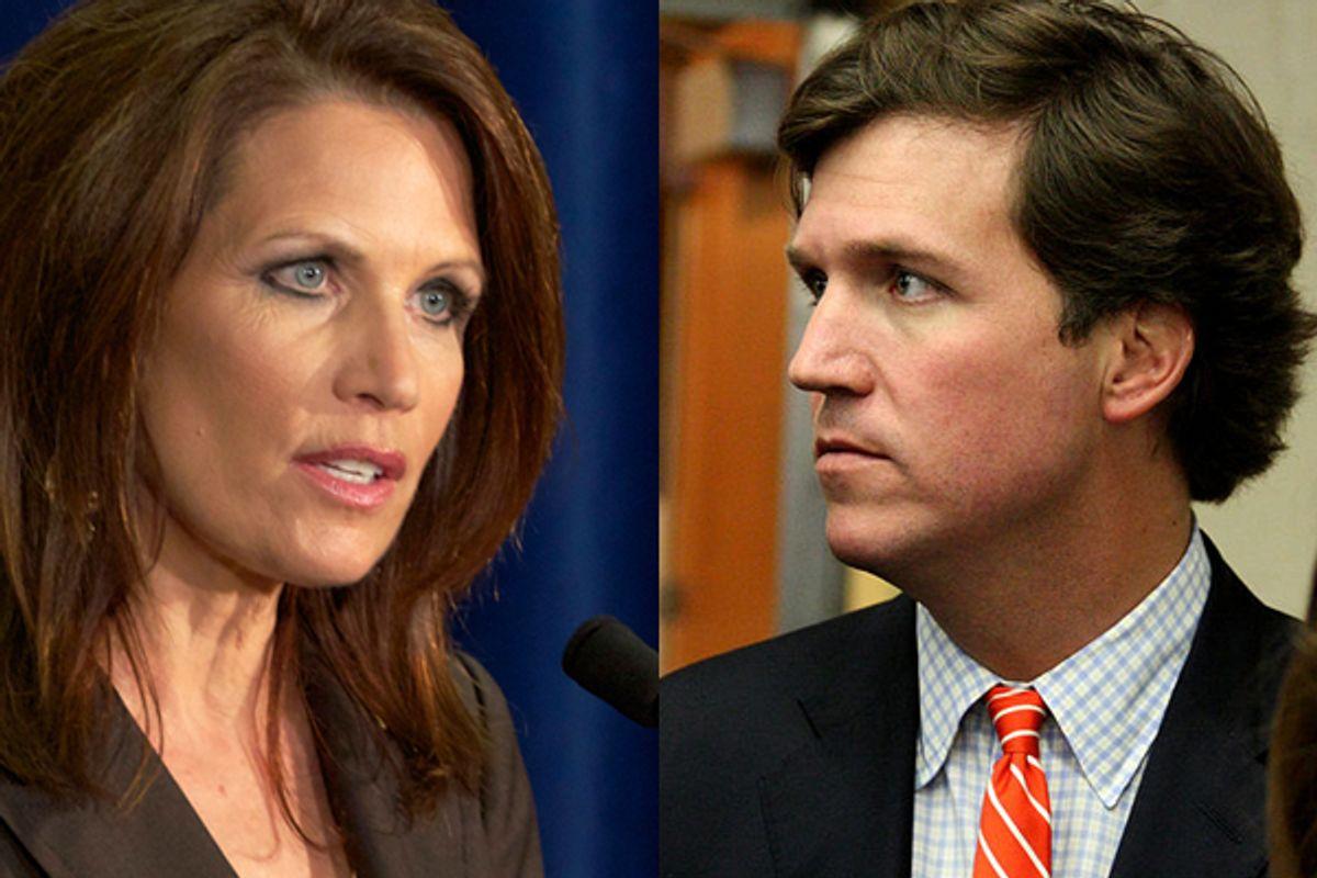 Rep. Michele Bachmann and Tucker Carlson