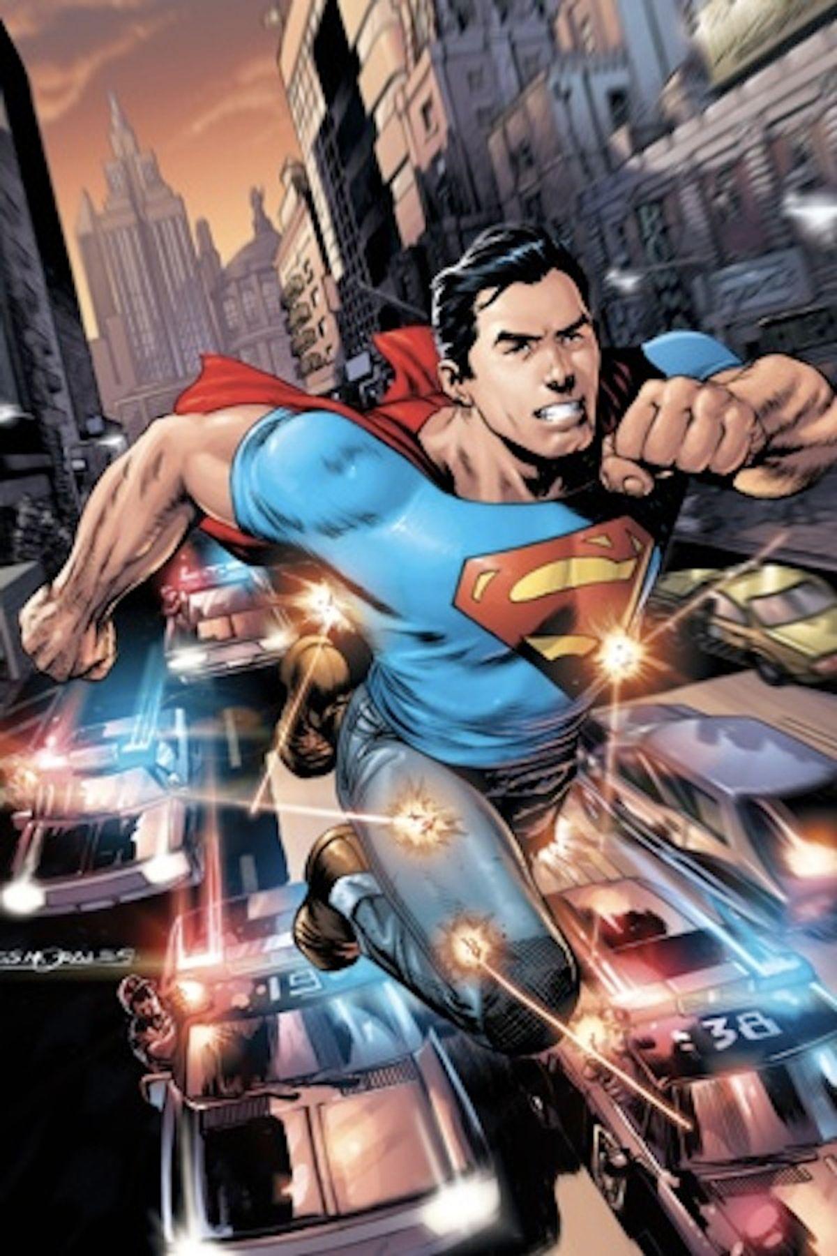 Superman's new look.
