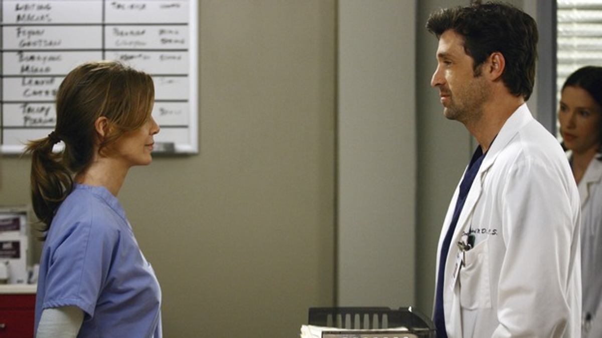 "Ellen Pompeo and Patrick Dempsey in ""Grey's Anatomy"""