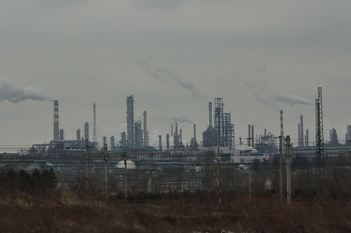 Industrial plants in the Qixia district of Nanjing, China.