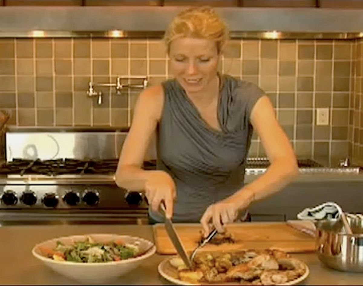 Gwyneth Paltrow doesn't even own a can opener... just a knife.
