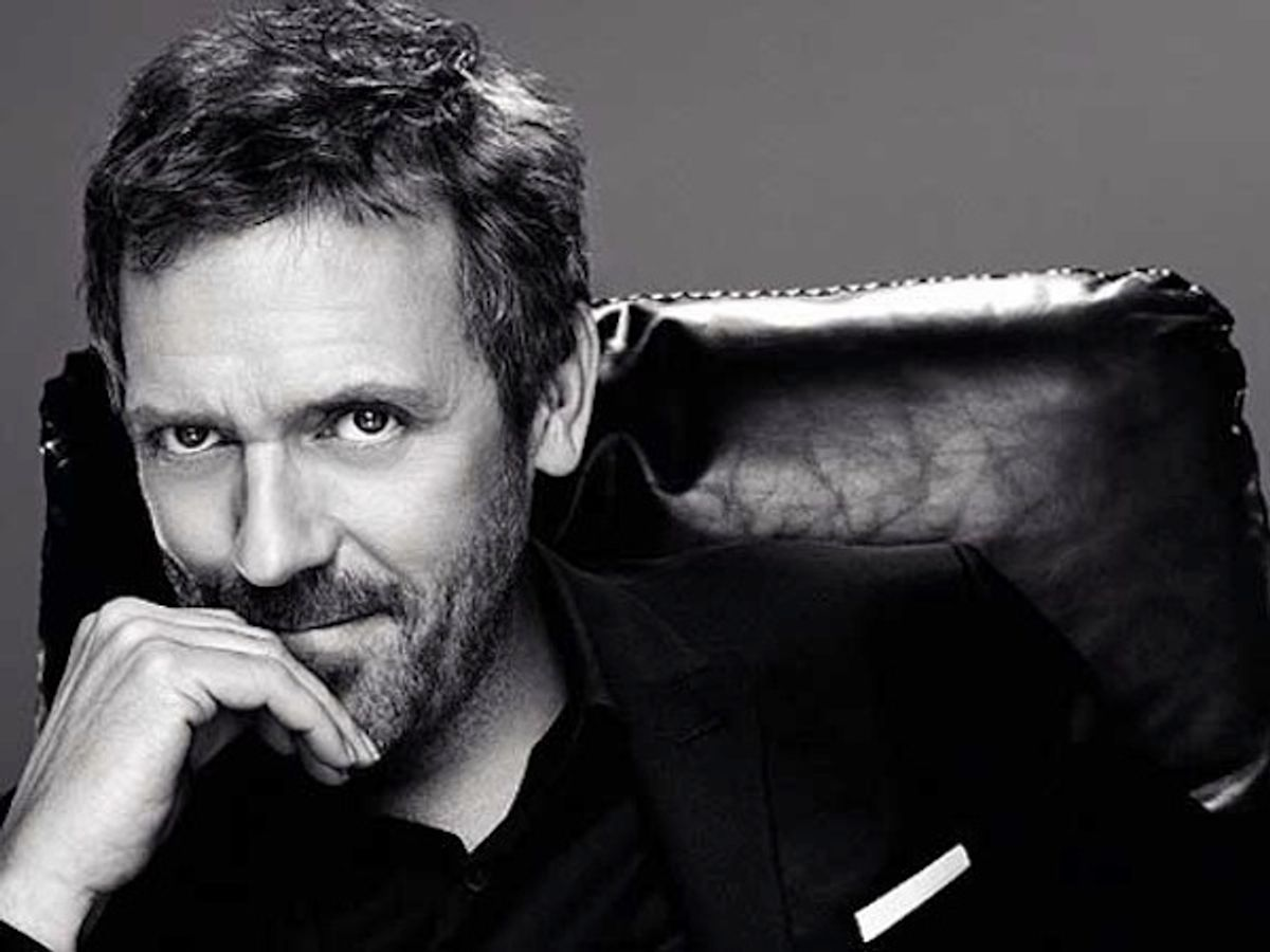 Hugh Laurie as the new face of male makeup.