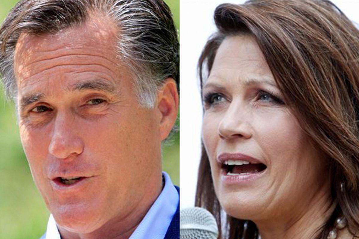 Mitt Romney and Michele Bachmann