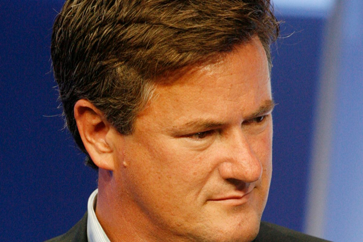 """Joe Scarborough, host of """"Morning Joe"""", takes part in the NBC News Decision '08 panel at the NBC Universal summer press tour  in Beverly Hills, California July 21, 2008.  REUTERS/Fred Prouser       (UNITED STATES)      (© Fred Prouser / Reuters)"""