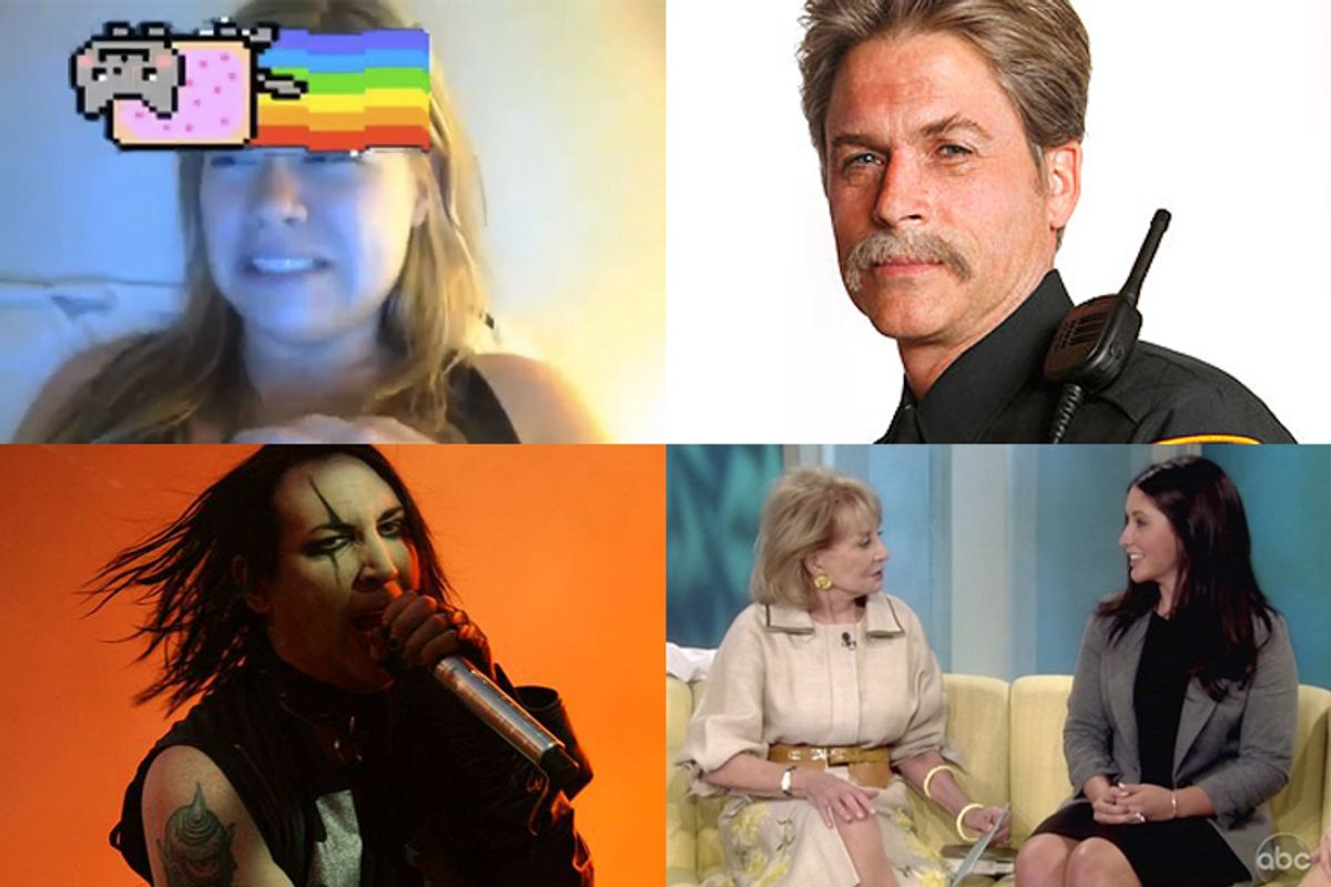 Making our tummies feel weird: Musical cats, Rob Lowe on Lifetime, Bristol Palin and Marilyn Manson