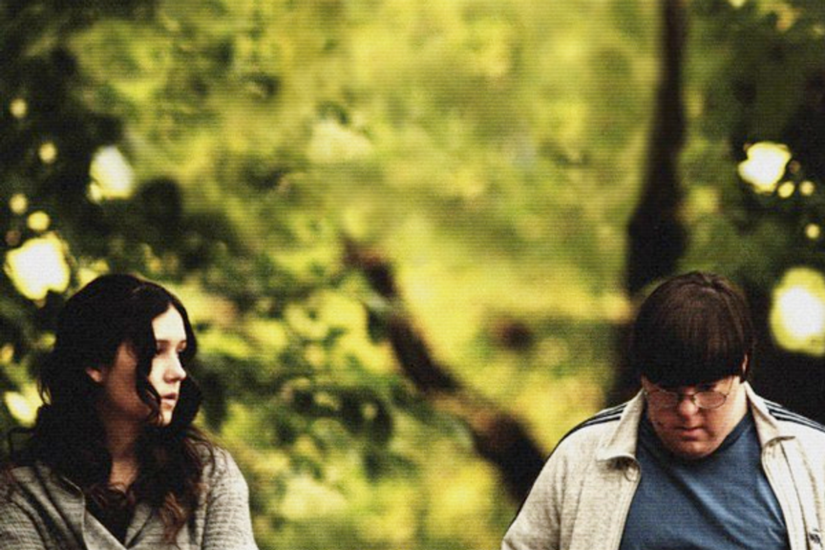 Shannon Woodward and Evan Sneider
