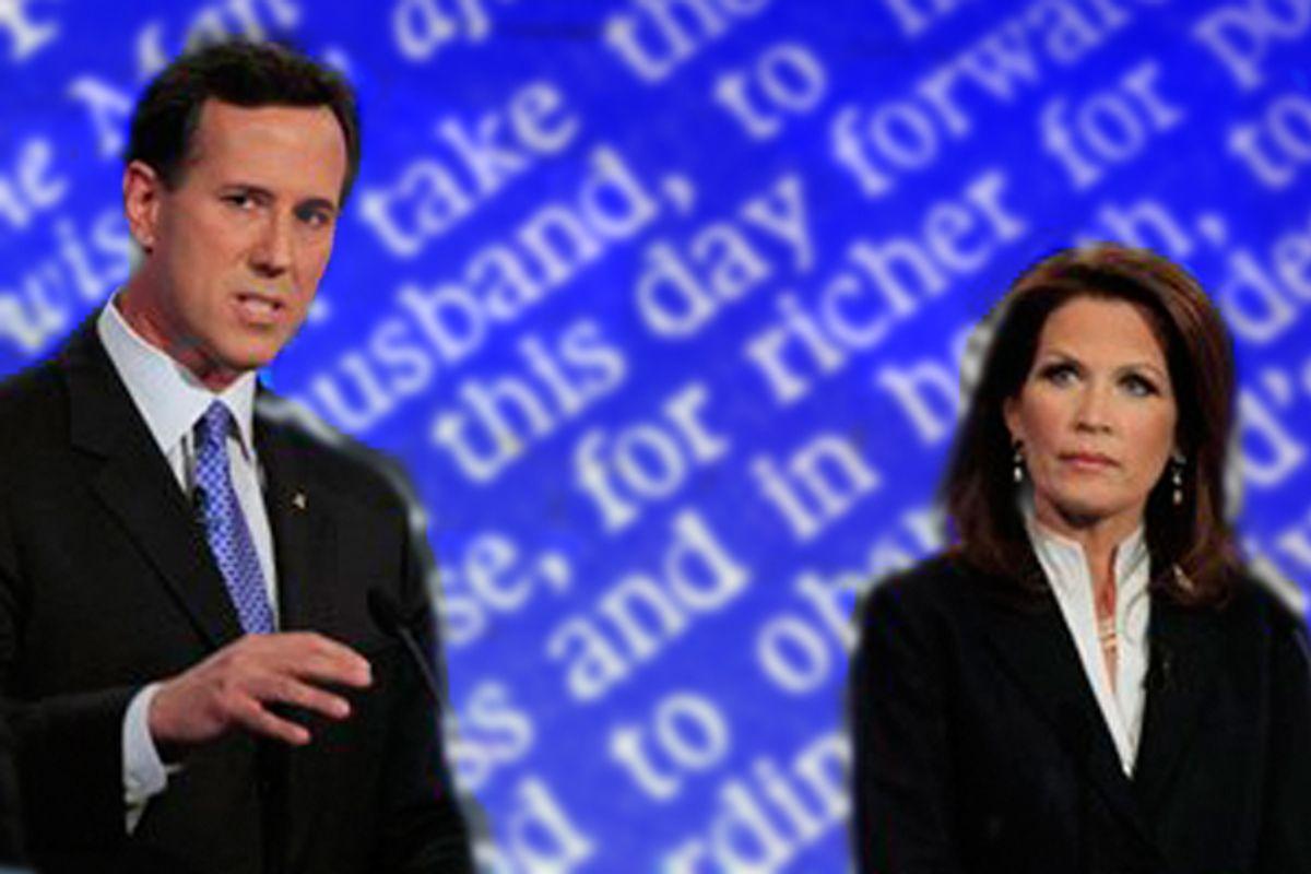 Rick Santorum and Michele Bachmann