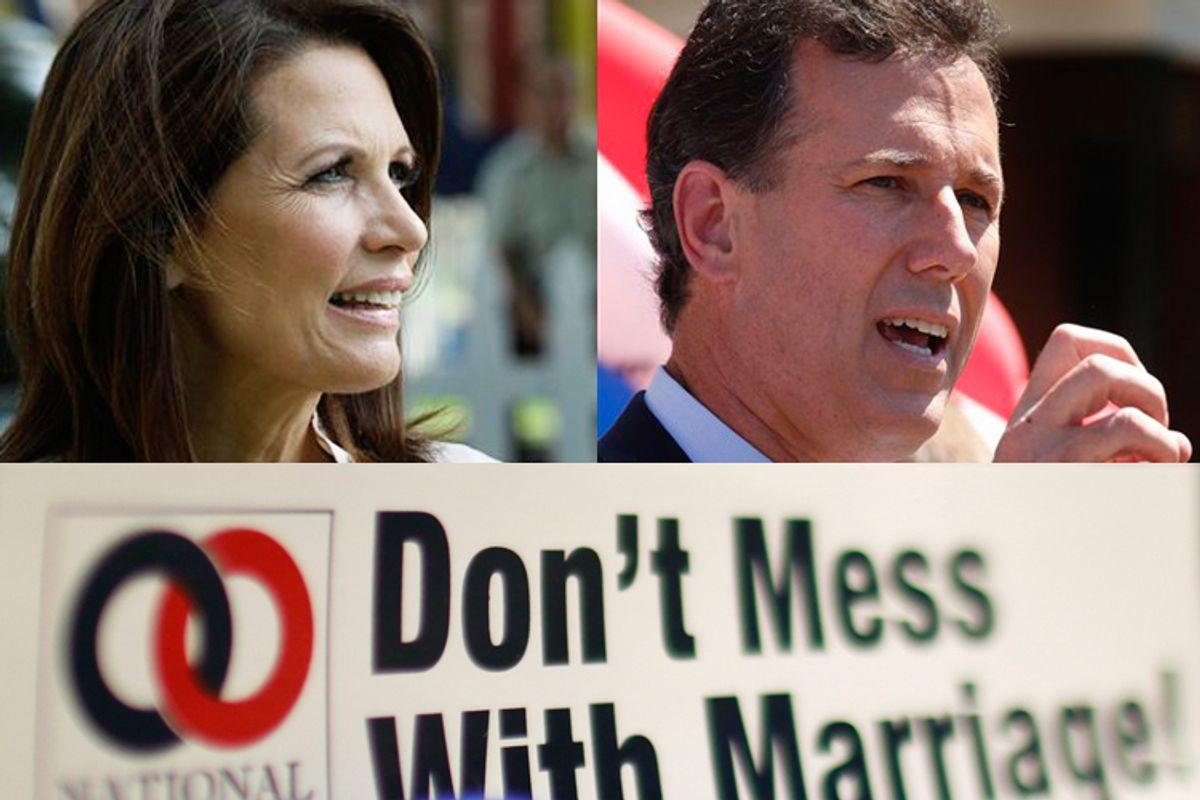 Michele Bachmann and Rick Santorum
