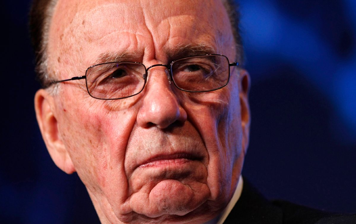 """News Corporation Chairman and CEO Rupert Murdoch listens to remarks while participating in the Wall St. Journal CEO Council on """"Rebuilding Global Prosperity"""" in Washington November 16, 2009. Financially, owning both high and low-brow publications makes sense -- although newspapers made up only 19 percent of News Corp's revenues of $32.8 billion in 2010. In Britain, Murdoch's tabloids subsidise The Times, which has an average daily circulation of just under half a million -- about double the readership when he bought it - but is loss-making. Picture taken November 16, 2009.    To match Special Report NEWSCORP/TAINT     REUTERS/Kevin Lamarque/Files    (UNITED STATES  - Tags: BUSINESS MEDIA HEADSHOT) (© Kevin Lamarque / Reuters)"""