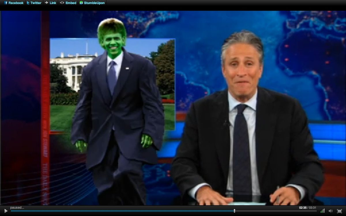 """""""The Daily Show"""" imagines Obama as the Hulk"""