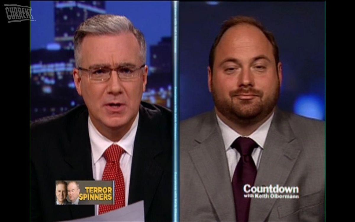 Keith Olbermann (left) and Democratic strategist and columnist, Karl Frisch